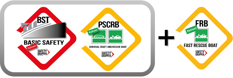STCW-Guide - Baskombination: Basic Safety, Rescue Boat + Fast Rescue Boat